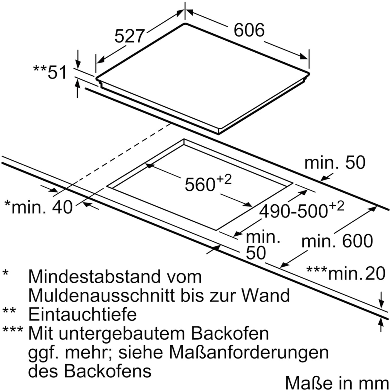 bosch kochfeld pxe675dc1e glaskeramik induktion autark 600 mm. Black Bedroom Furniture Sets. Home Design Ideas