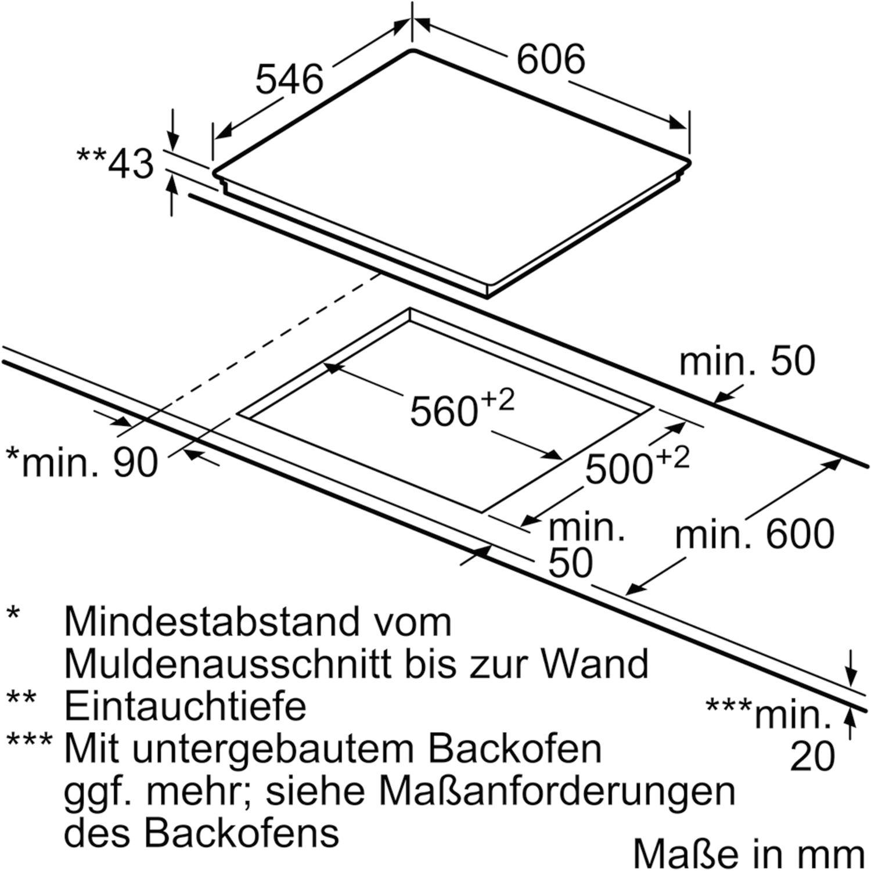 NEFF Kochfeld TTS1678N Glaskeramik Strahlungsheizung autark 600 mm