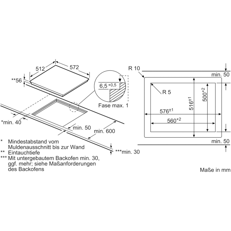 siemens kochfeld eh601ffb1e glaskeramik induktion autark 600 mm. Black Bedroom Furniture Sets. Home Design Ideas