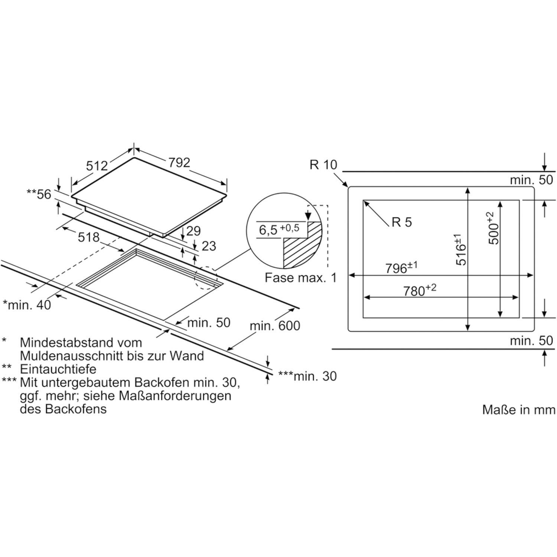 siemens kochfeld eh801fvb1e glaskeramik induktion autark. Black Bedroom Furniture Sets. Home Design Ideas