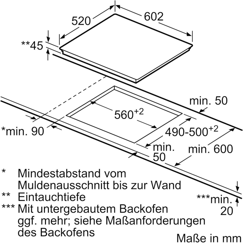 siemens kochfeld et675fnp1e glaskeramik strahlungsheizung autark 600 mm. Black Bedroom Furniture Sets. Home Design Ideas