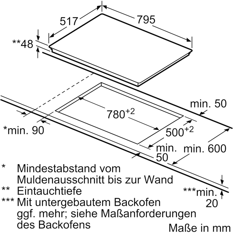 siemens kochfeld et801fcp1d glaskeramik strahlungsheizung autark 800 mm. Black Bedroom Furniture Sets. Home Design Ideas