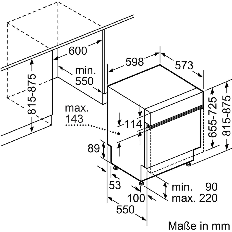 CONSTRUCTA CG4A05J5 Teilintegrierter Geschirrspüler