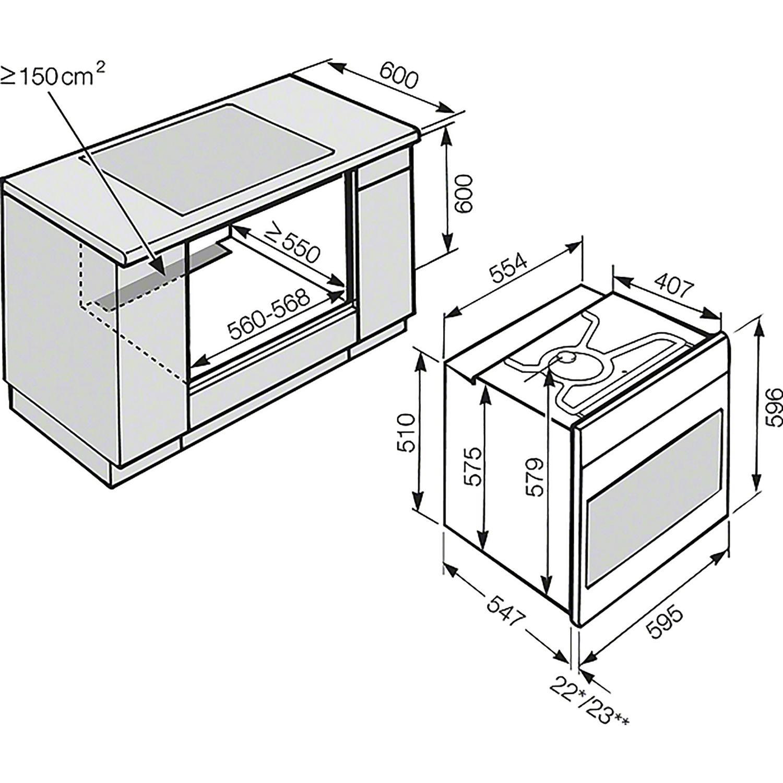 miele backofen h 6860 bpx grifflos obsidianschwarz. Black Bedroom Furniture Sets. Home Design Ideas