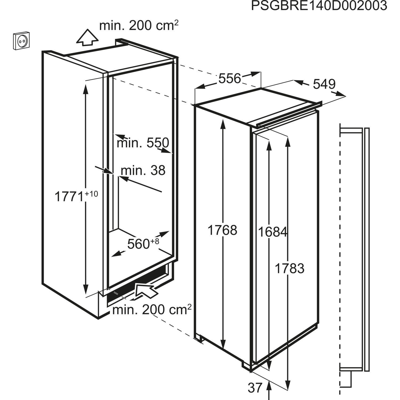 AEG Kühlschrank SKE81821DC, integrierbar 1780 mm