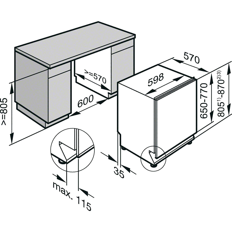 Miele Geschirrspuler G 6770 Scvi Vollintegriert Nische 600 Mm