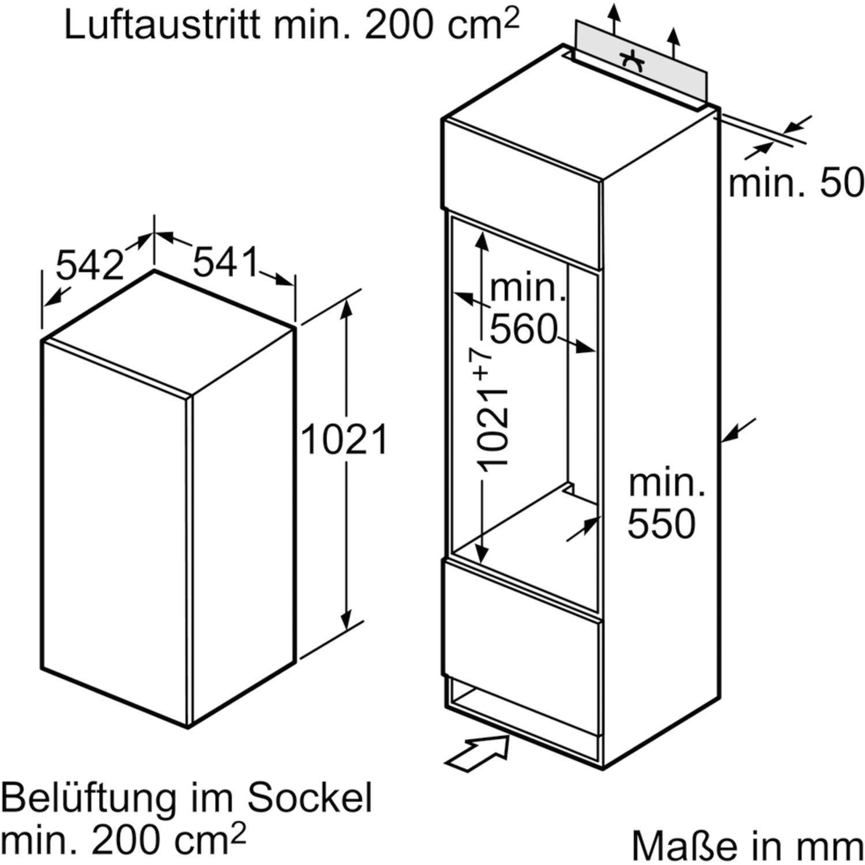 siemens k hlschrank ki20rv52 ohne gefrierfach nischenh he 102 5 cm. Black Bedroom Furniture Sets. Home Design Ideas