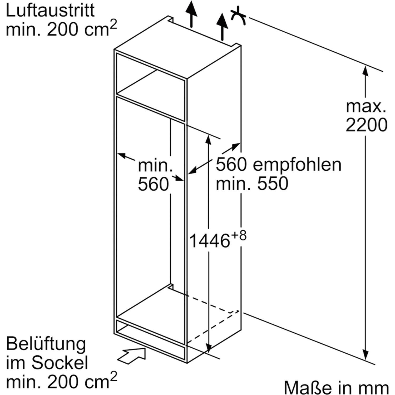 siemens k hl gefrierkombination ki67vvf30 integr 1450 mm. Black Bedroom Furniture Sets. Home Design Ideas