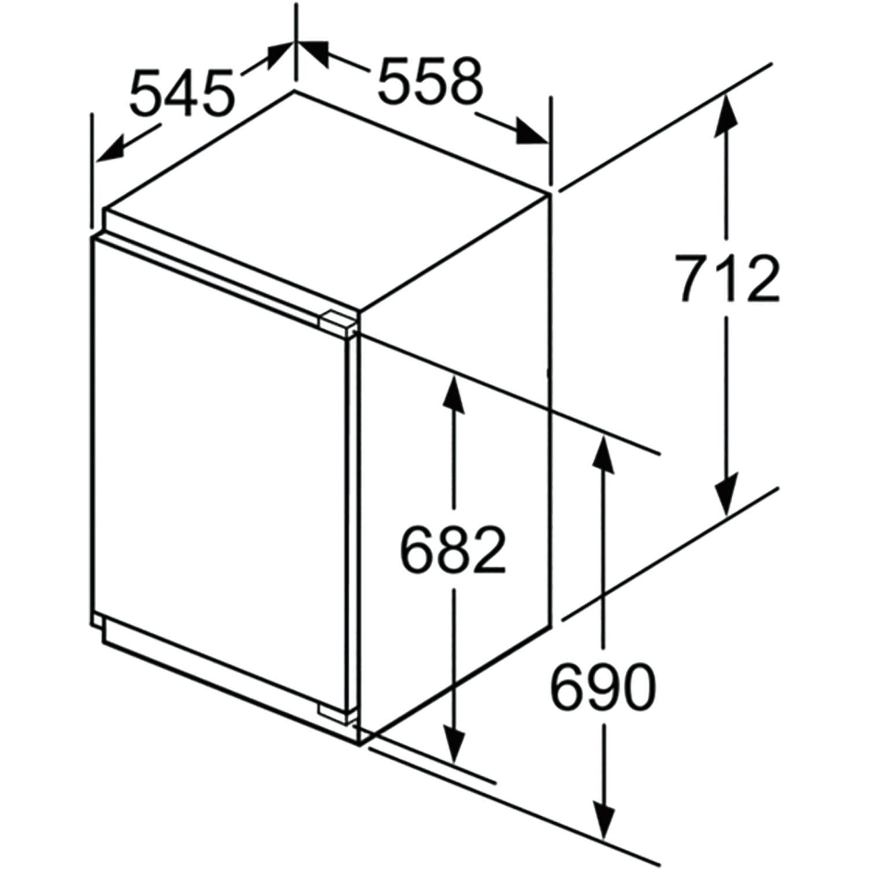 BOSCH Gefrierschrank GIV21AF30 integrierbar, Nischenhöhe 880 mm