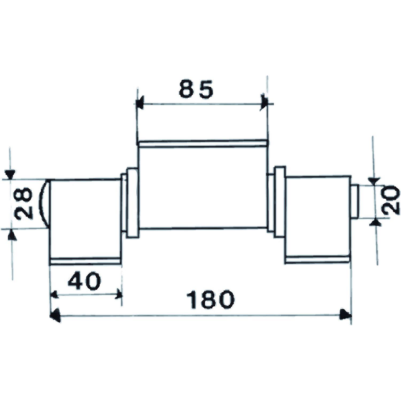Anschweißband offen 3-teilig V-Lappen; Stahl blank; Stift 16 mm mit Messinring