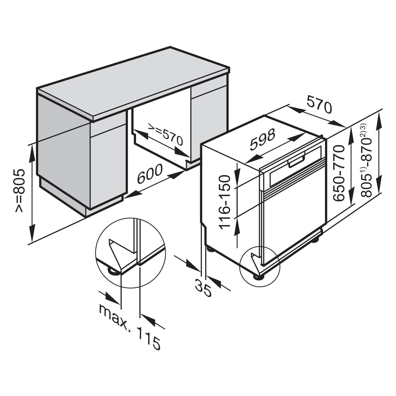 miele geschirrsp ler g 6200 sci clst edelstahl cleansteel teilintegriert 600 mm. Black Bedroom Furniture Sets. Home Design Ideas