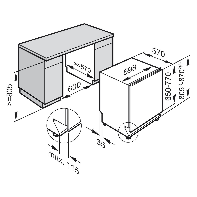 Miele Geschirrspuler G 6265 Scvi Xxl Vollintegriert Nische 600 Mm