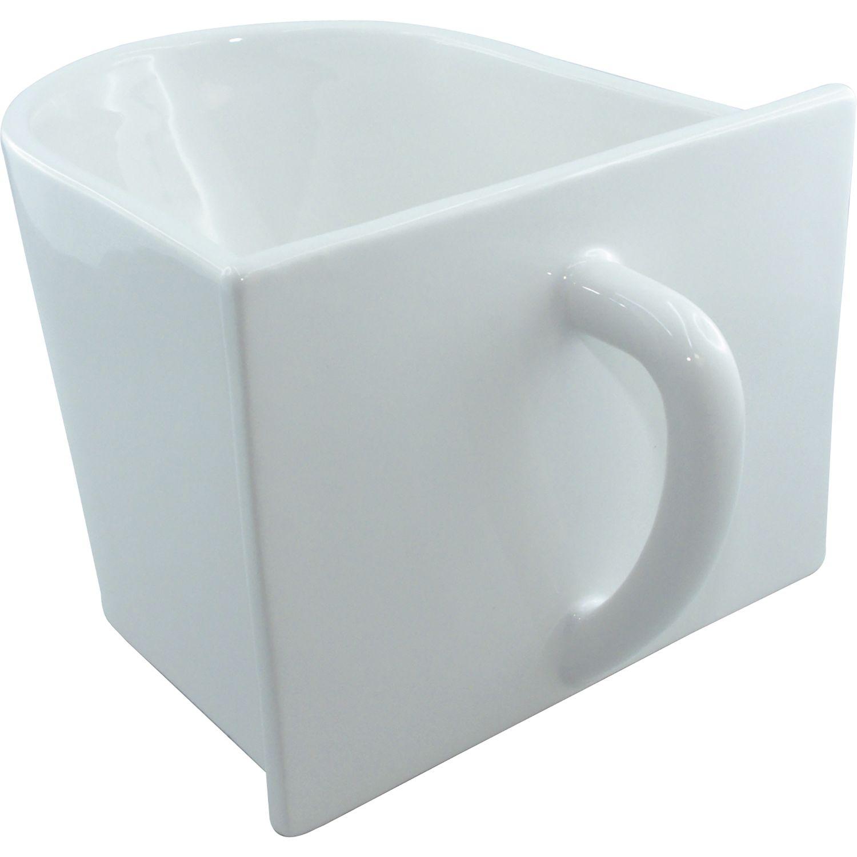 Küchenschütte küchenschütte keramik 130 x 105 x 145 mm 0 9 liter keramik weiß