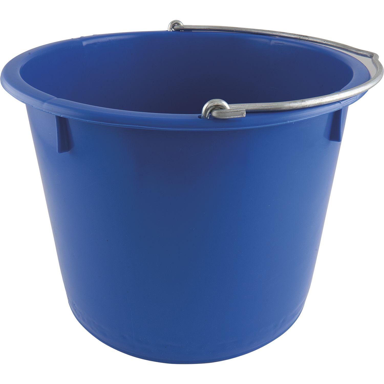 baueimer pe blau kranbar inhalt 20 liter mit nasenb gel. Black Bedroom Furniture Sets. Home Design Ideas