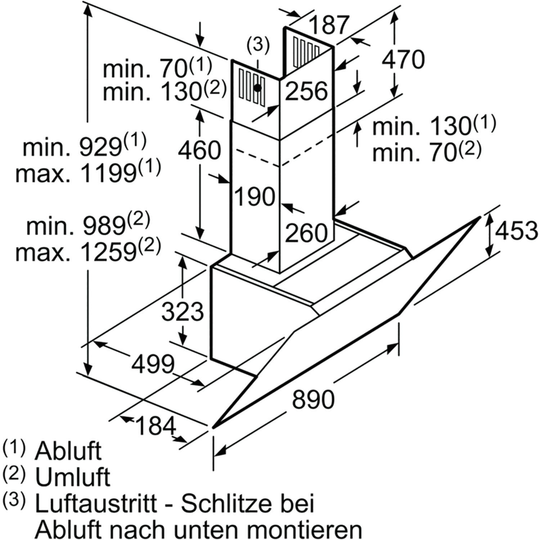 Bosch Wand Dunstabzugshaube Dwk97hm60 900 Mm