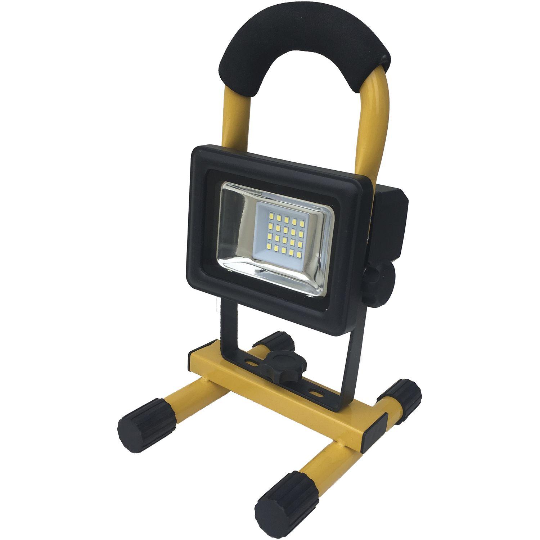 shada led akku strahler ip65 10 watt 700 lumen m netzteil u gestell. Black Bedroom Furniture Sets. Home Design Ideas