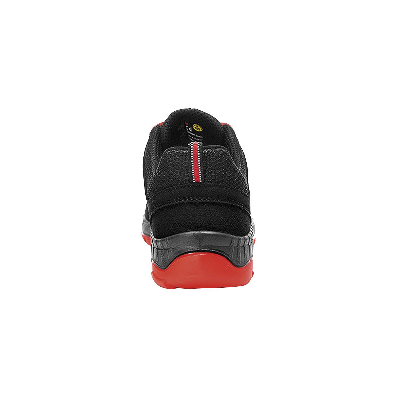 ELTEN Halbschuh schwarz rot MADDOX black red Low ESD, S3 44