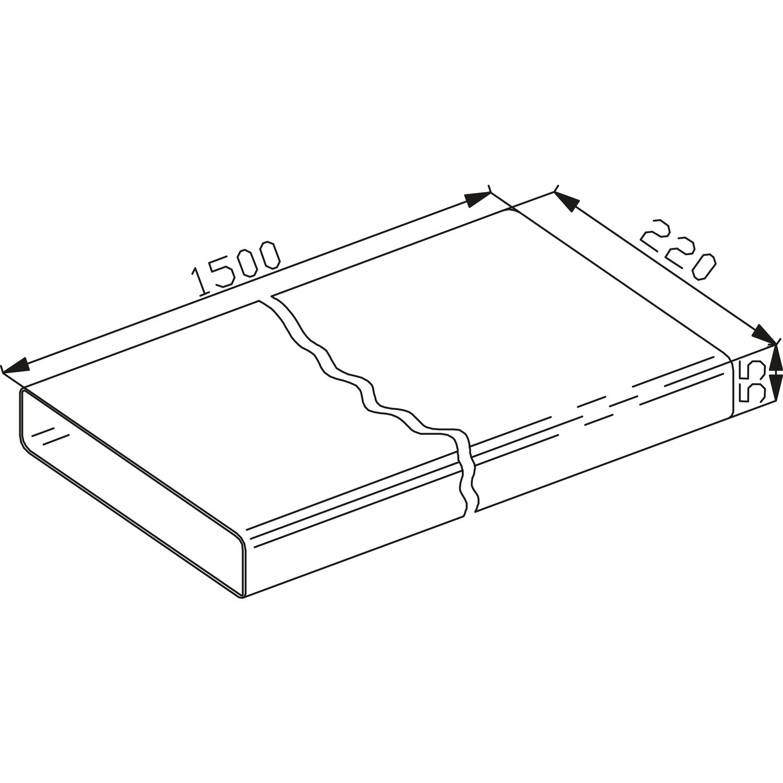 weiß Ab-//Umlufttechnik Klebeband Weich-PVC 50 mm x 33 m