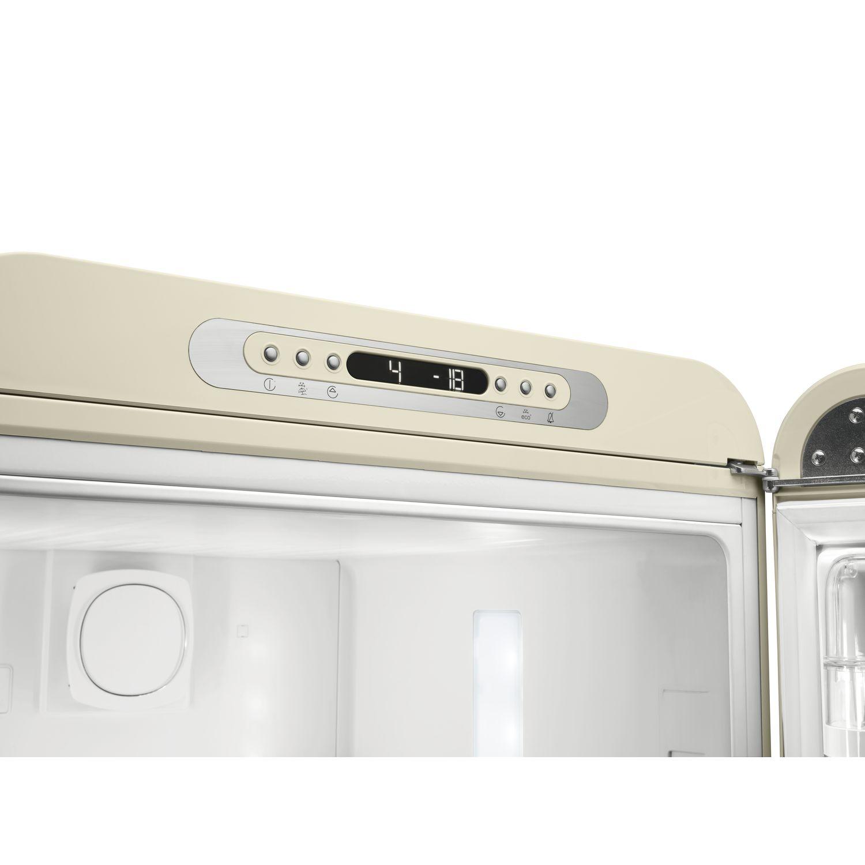 Abb. Soft-Touch Bedienung und getrennte Temperatursteuerung; Funktionen: Eco, Holiday, Schnellgefrieren, Schnellkühlen