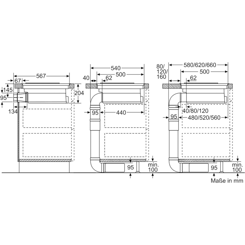 neff kochfeld mit integriertem dunstabzug tbd183an glaskeramik 800 mm. Black Bedroom Furniture Sets. Home Design Ideas