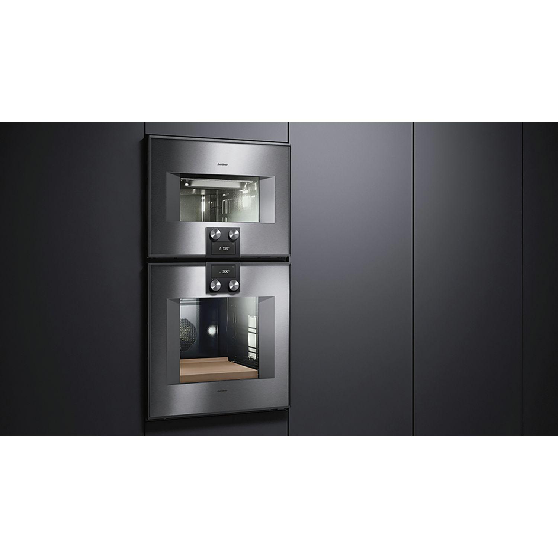 gaggenau backofen bo470111 bedienung oben t ranschlag rechts edelstahl. Black Bedroom Furniture Sets. Home Design Ideas
