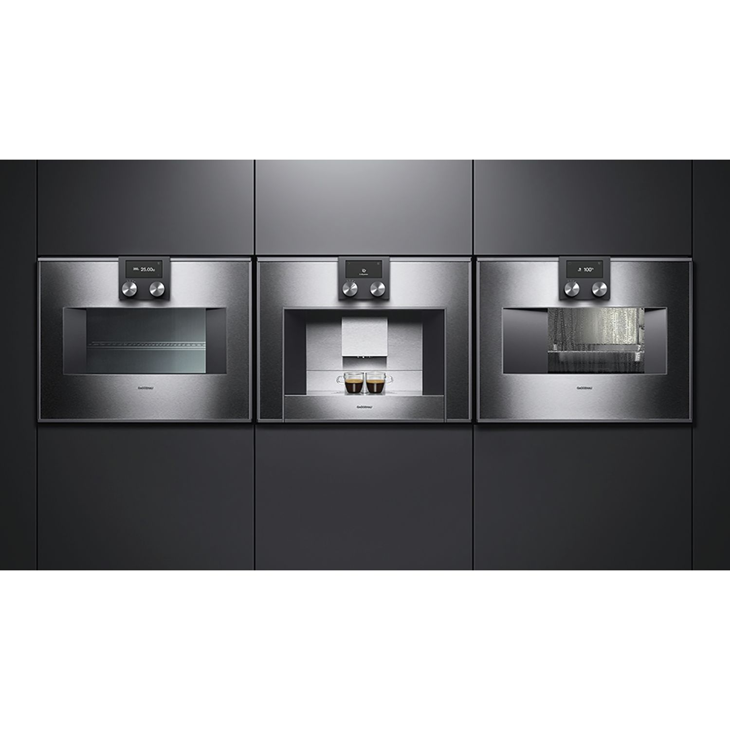 gaggenau dampfbackofen bs471111 edelstahl bedienung oben t ranschlag links. Black Bedroom Furniture Sets. Home Design Ideas