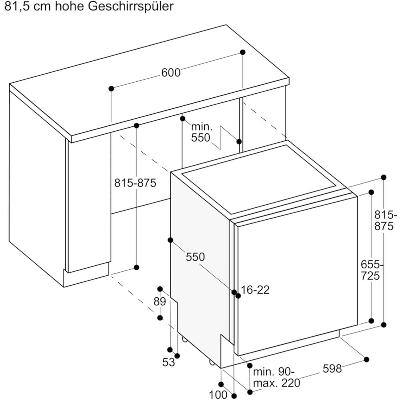 GAGGENAU DF480162 Vollintegrierter Geschirrspüler