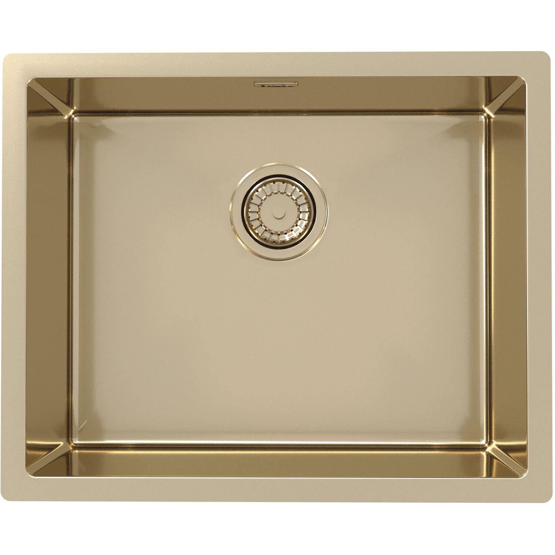 SOLIDO 2D-Spüle Monarch Quadrix 50 Edelstahl-Bronze