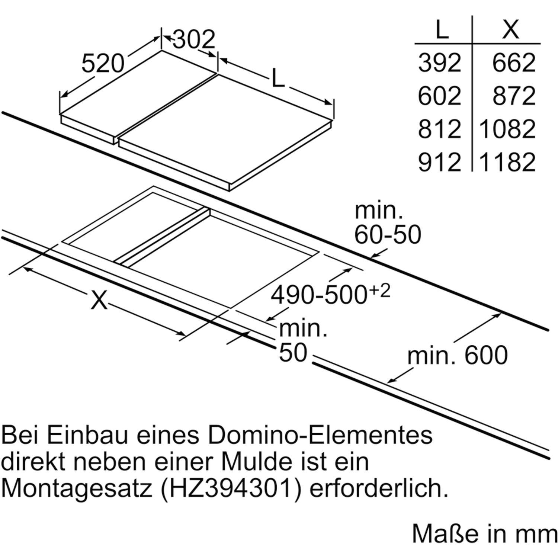 Siemens Kochfeld Eh375fbb1e Glaskeramik Induktion Autark 300 Mm
