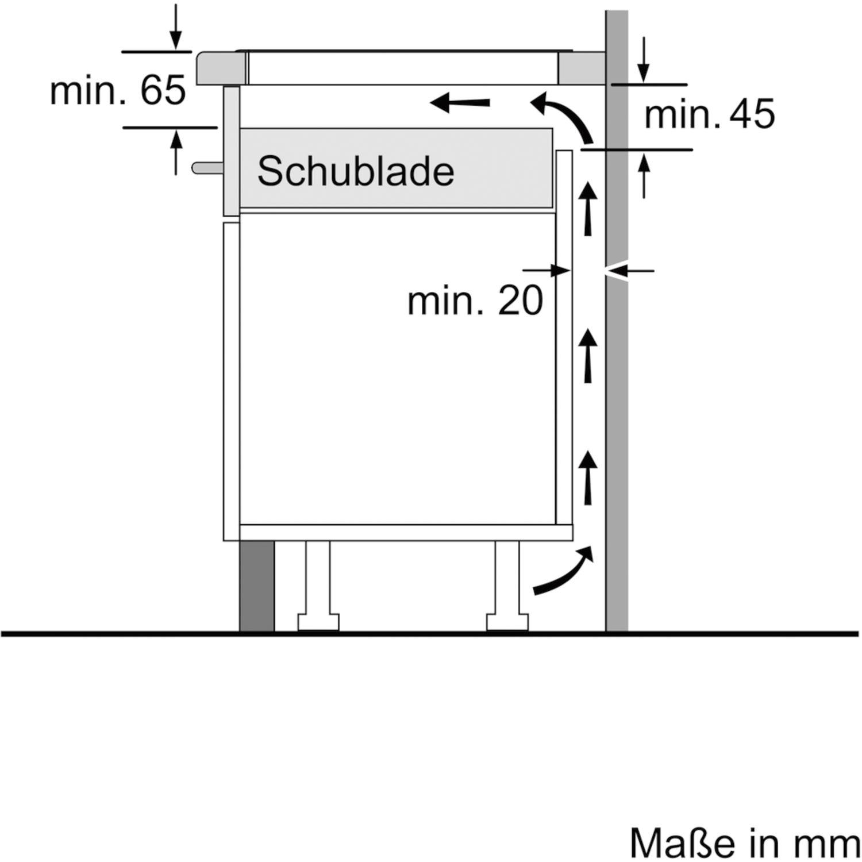 bosch kochfeld pxe601dc1e glaskeramik induktion autark 600 mm. Black Bedroom Furniture Sets. Home Design Ideas