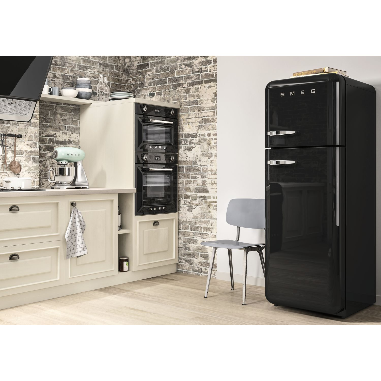 smeg k hl gefrierkombination fab30rne1 a schwarz rechtsanschlag. Black Bedroom Furniture Sets. Home Design Ideas
