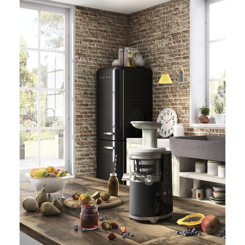 smeg k hl gefrierkombination fab32lbl3 schwarz linksanschlag. Black Bedroom Furniture Sets. Home Design Ideas