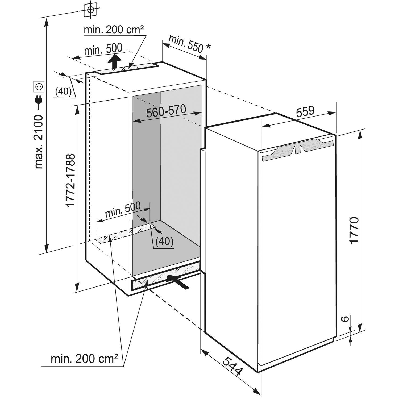 liebherr k hlschrank ikf 3510 ohne gefrierfach nischenh he 1780 mm. Black Bedroom Furniture Sets. Home Design Ideas