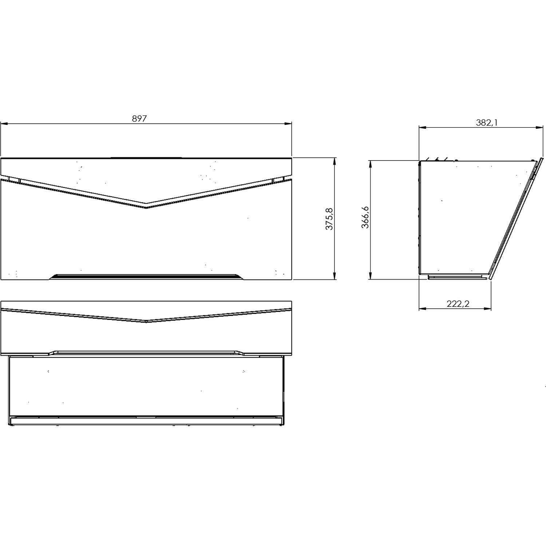 gutmann wand dunstabzugshaube carta 7510w900cbl schwarz ohne turm. Black Bedroom Furniture Sets. Home Design Ideas