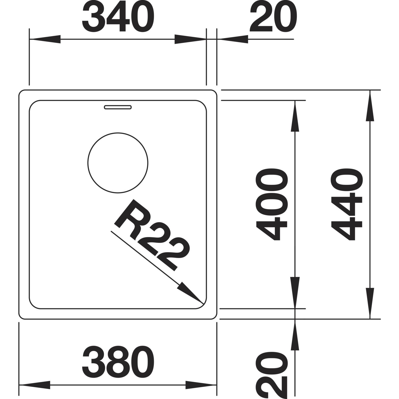 BLANCO 2D-Spüle Andano 340-IF Edelstahl 522953