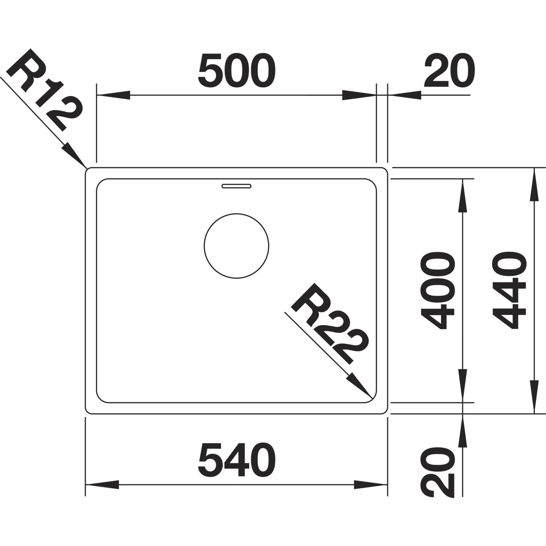Blanco Unterbauspule Andano 500 U Edelstahl 522968