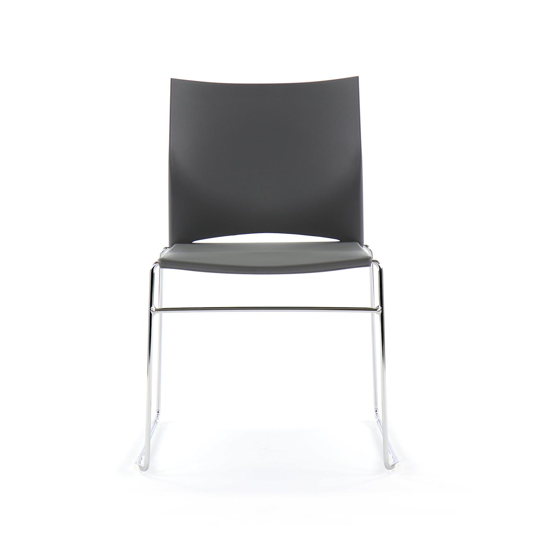 Sedute In Plastica Per Sedie.Sedia Per Ospiti Web Chair Seduta Schienale Plastica Grigia Telaio