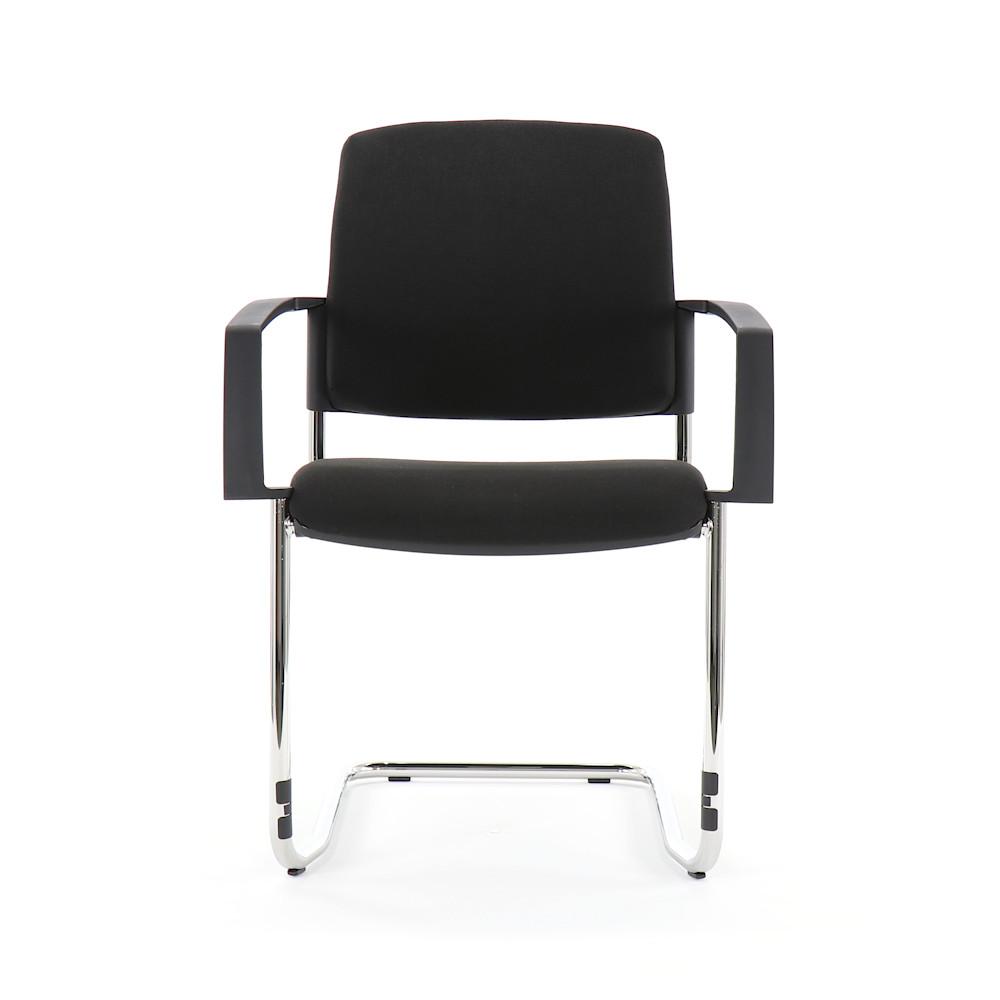 topstar btob 20 besucherstuhl schwingergestell stoff schwarz mit armlehne. Black Bedroom Furniture Sets. Home Design Ideas